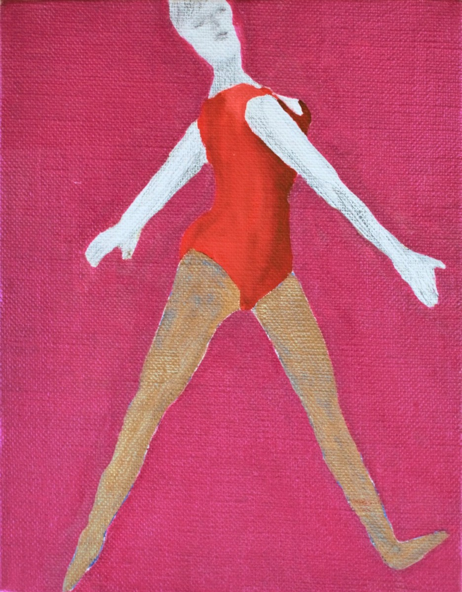 Kousuke ISHIHARA《A Woman Wearing A Red Leotard》 / Acrylic and pencil on canvas / 180 × 140 mm / 2014