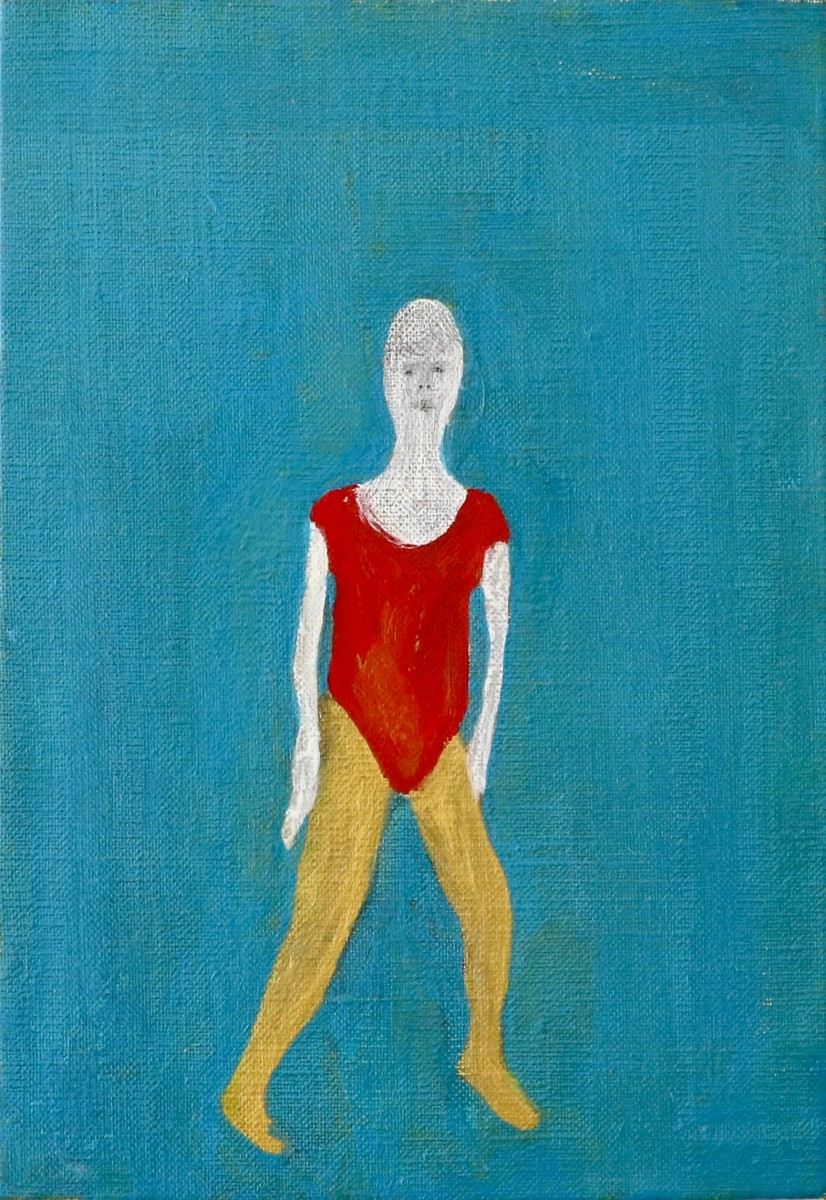 Kousuke ISHIHARA《A Woman Wearing A Red Leotard》 / Acrylic and pencil on canvas / 227 × 158 mm / 2014
