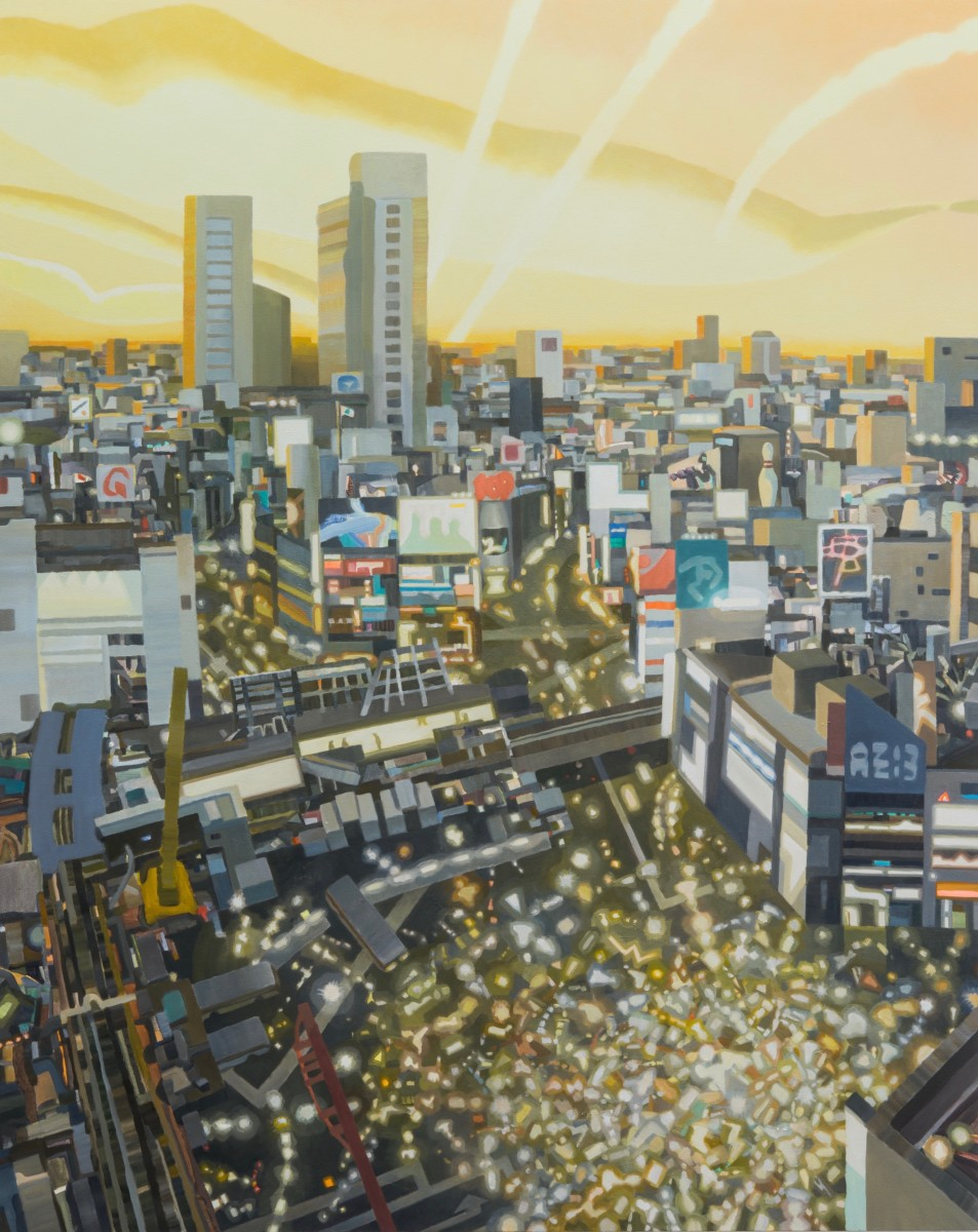 《Reliable Light》 / acrylic, oil on canvas / 227.3 × 181.8 cm / 2018 / photo:Masaru YANAGIBA