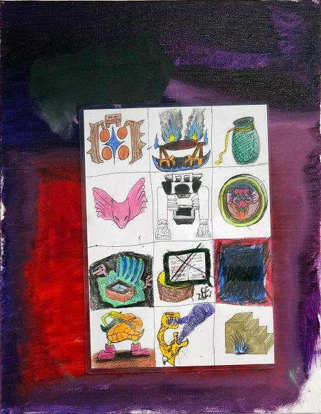 安部悠介 Yusuke ABE《12に区切って描く絵 / Painting in 12 sections》