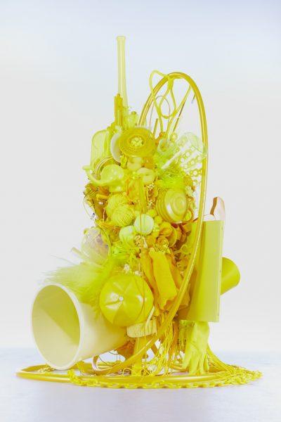 荒木由香里 Yukari ARAKI 《Yellow》 / 2012年 / h115×w129.5×d130cm / Mixed media