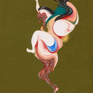 森夕香 Yuka MORI 《自己喪失のすすめ》 / 麻紙・岩絵具・水干絵具 / 455×333 mm / 2015年 [photo:Masaru YANAGIBA]