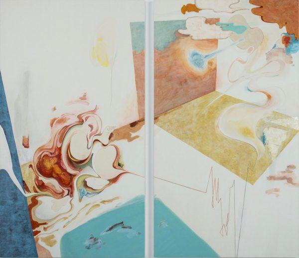 森夕香 Yuka MORI 《それでしかない体と離脱可能なマインド》 / 麻紙・岩絵具・水干絵具 / 2040×1150 mm・2040×1150 mm / 2016 [photo:Masaru YANAGIBA]