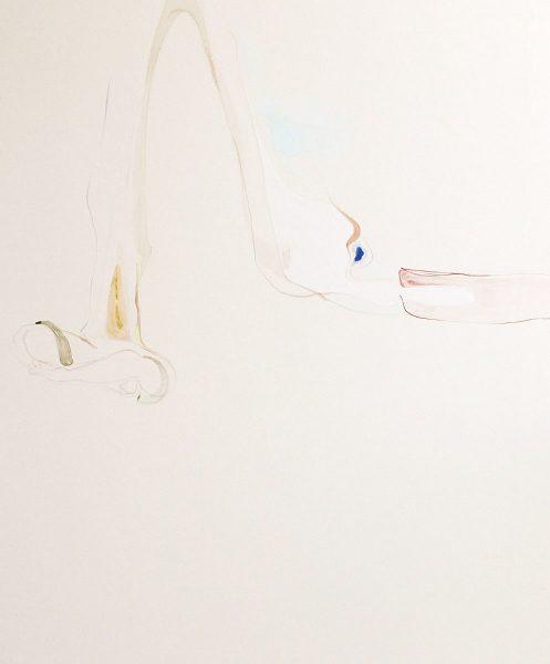 森夕香 Yuka MORI 《《爽やかな悲》 / 麻紙・膠・岩絵具・水干絵具・胡粉 / 606×727 mm / 2016年 [photo:Masaru YANAGIBA]