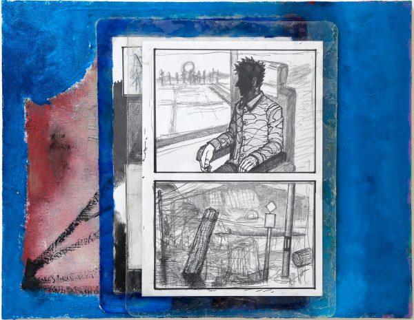 安部悠介 Yusuke ABE 《人を形づくるものについて思いを馳せている絵 / A painting of thinking about things that from humans》2019
