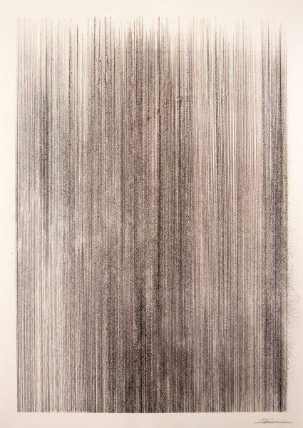 「suminawa (inking lines) #1」清水玲 「suminawa (inking lines) #1」清水玲